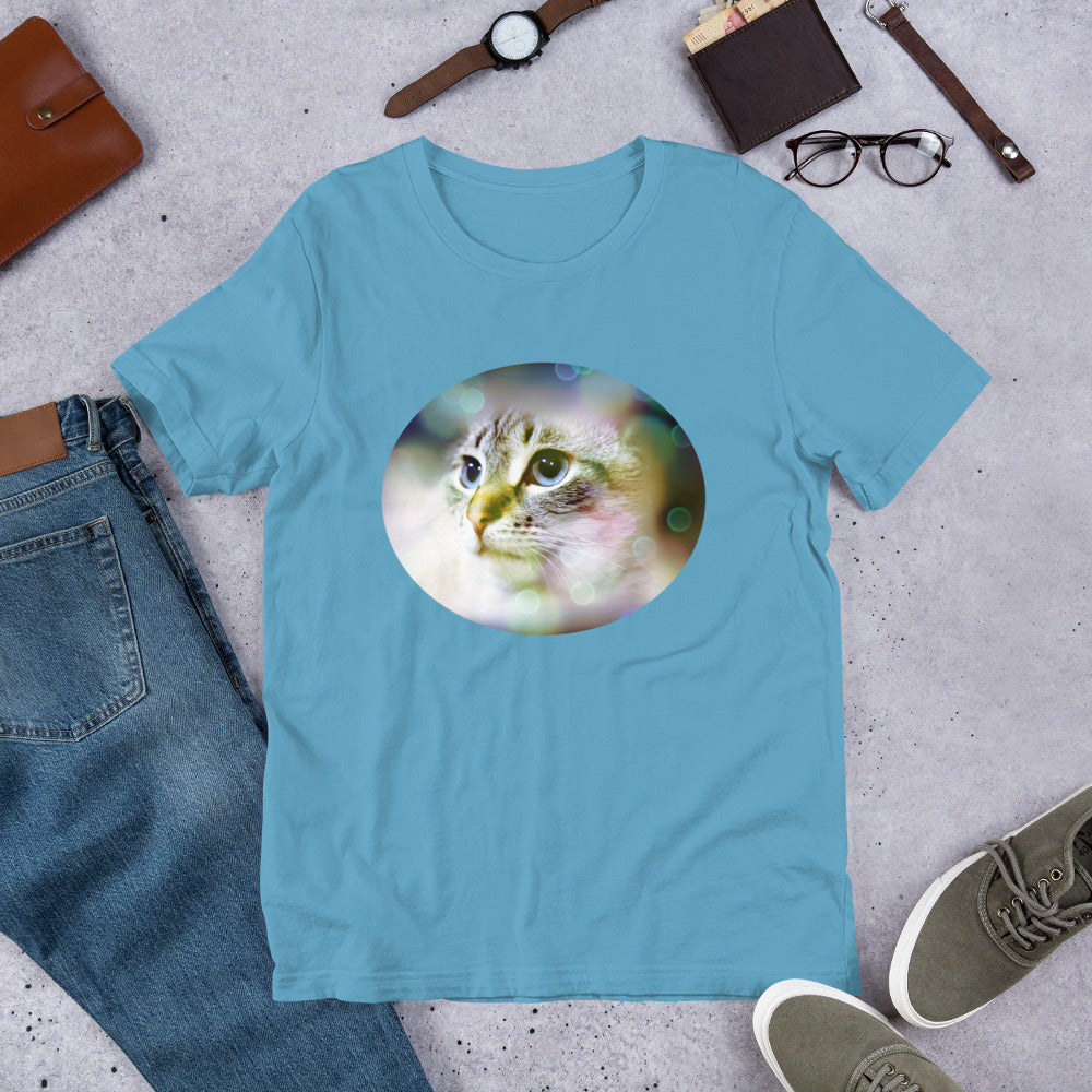 Beautiful Lynx Point Siamese Short-Sleeve Unisex T-Shirt