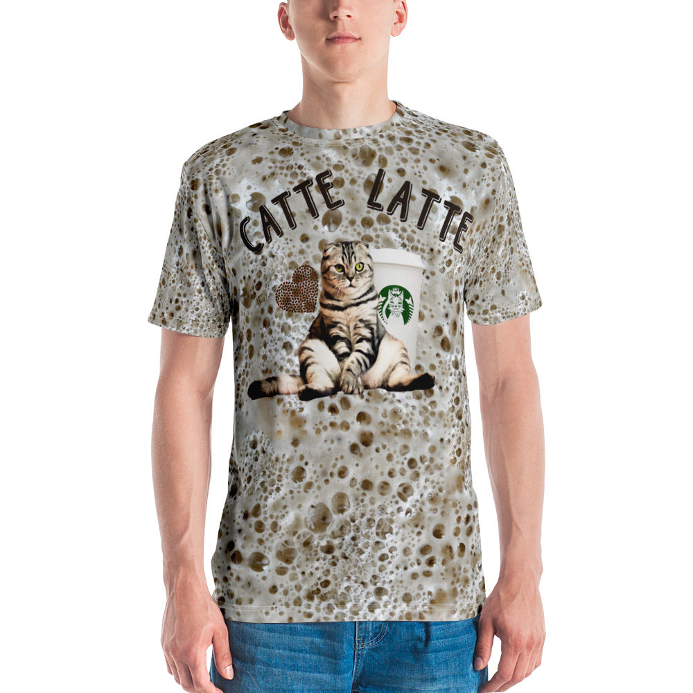 Catte Latte All over Print Foam Men's T-shirt