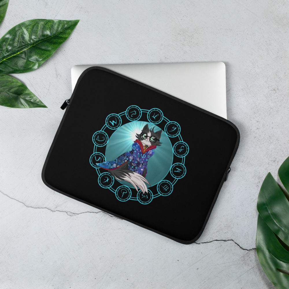Wizard Cat Laptop Sleeve
