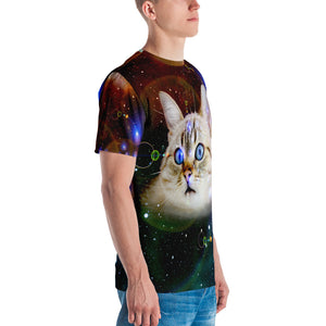 Universe Cat Galaxy Print Cat Shirt