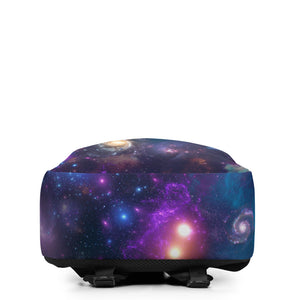 Universe Cat with Galaxy Print Minimalist Backpack