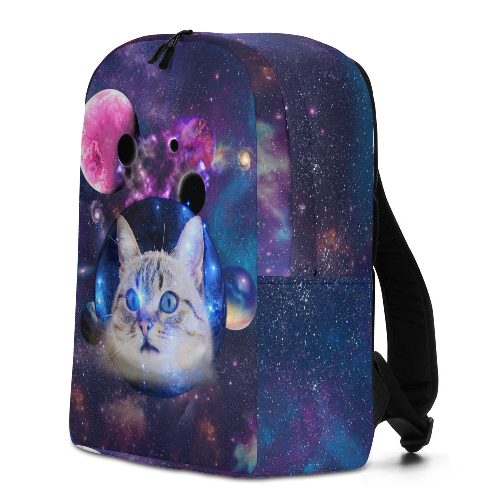 Universe Cat with Planets Backpack