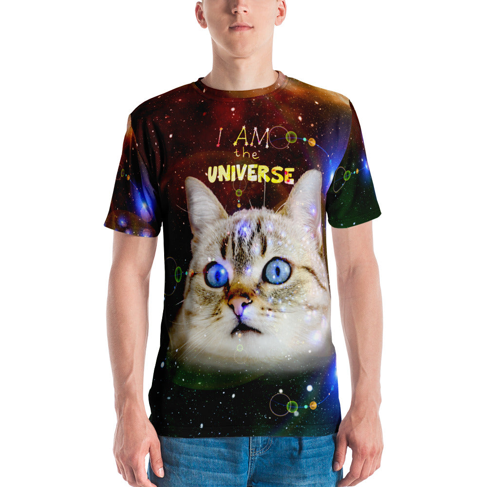 "Universe Cat ""I m the Universe"" Galaxy Print Cat Shirt"