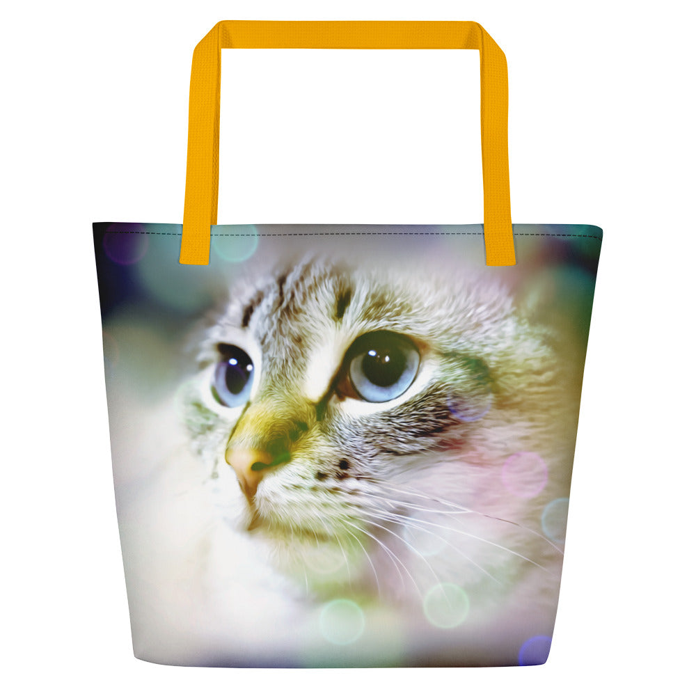 Beautiful Lynx Point Siamese Beach Bag