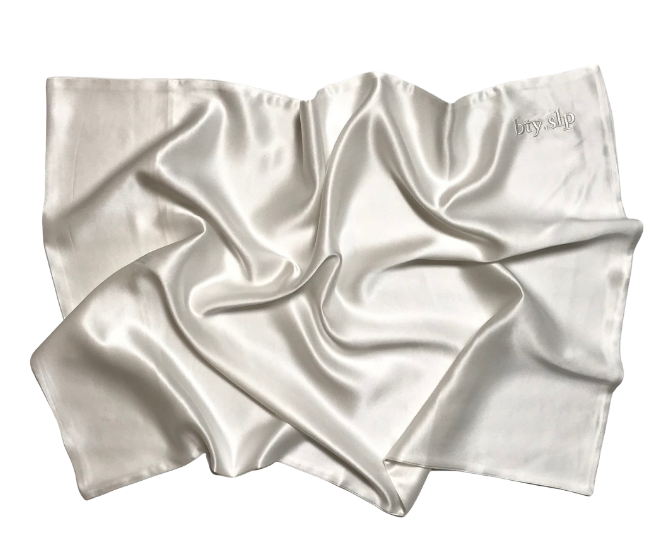bty.slp 100% Peace Silk Pillowcase // Natural White
