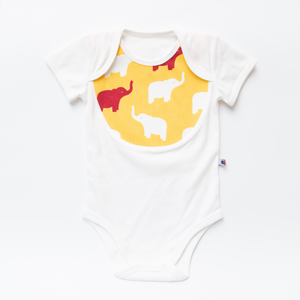 "Functional Set - ""Elephant"" (Body + Romper + Bib)"