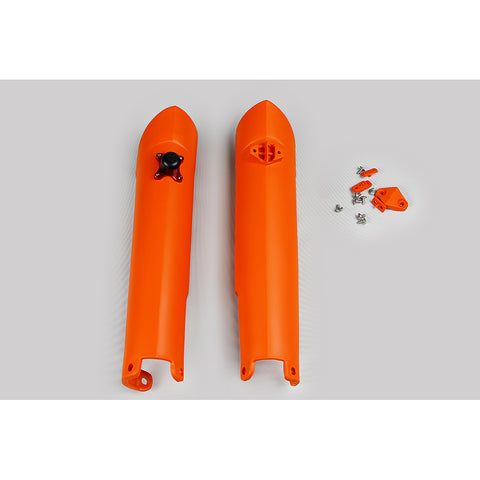2007-2014 SX-F Fork Slider Protectors w/QuickStart-orange
