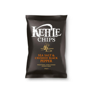 KETTLE CHIPS SEA SALT & PEPPER