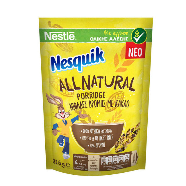 NESQUIK DIMITRIAKA PORRIDGE ALL NATURAL 315GR
