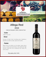 Load image into Gallery viewer, Alfega Red 2016