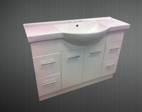 1200mm SEMI-RECESSED VANITY UNIT