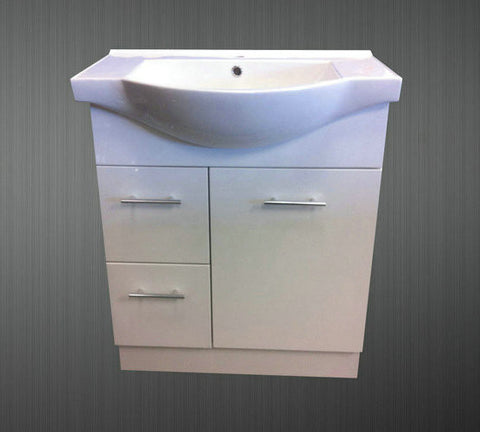 750mm SEMI-RECESSED VANITY UNIT