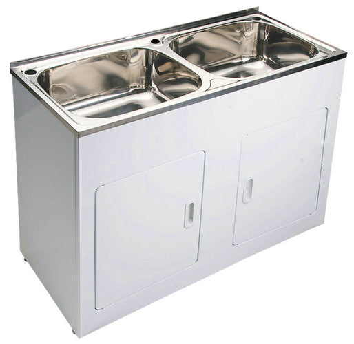 Yakka Double 45 Litre Laundry Tub And Cabinet Mr Sink