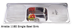 1180mm Ariette Single Bowl Sink