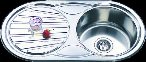 850mm Rondo Single Bowl Sink