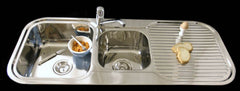 1200mm Grande 1&3/4 Double Bowl Sink
