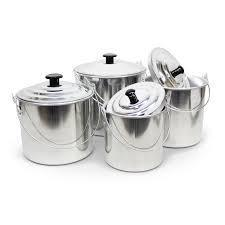 4 Piece Aluminium Billy Set