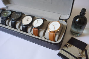 Men's  Travel Watch and Accessories Case
