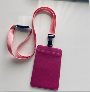 Personalised ID and card holder - Pink