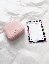 Load image into Gallery viewer, Monogrammed Travel Jewellery Case - Pink
