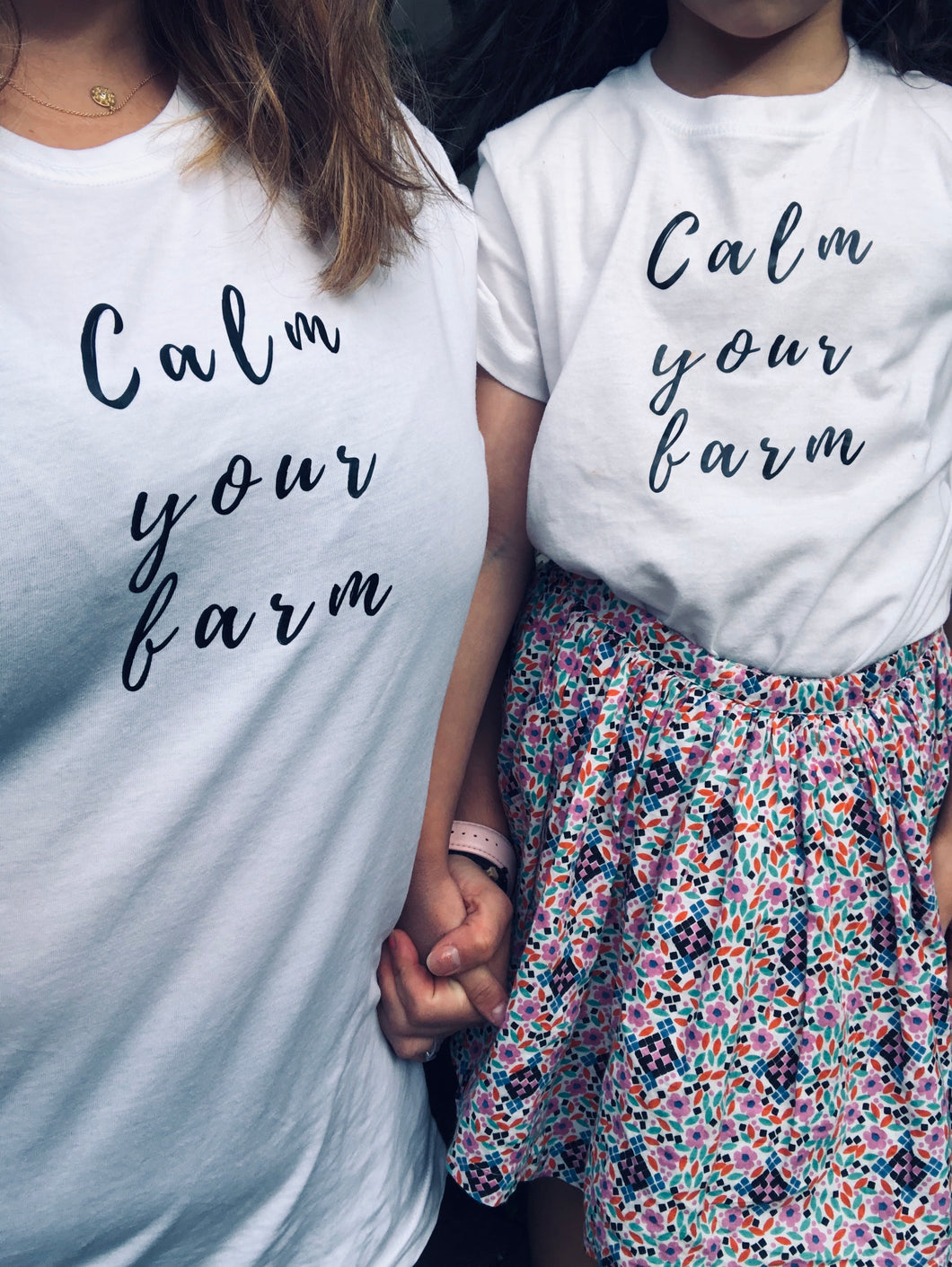 Calm your farm T-shirt - Womens and Kids