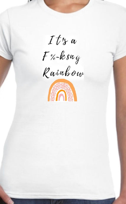 Rainbow T-shirt Color- Womens