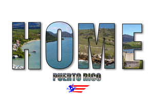 "Puerto Rico ""HOME"" canvas"