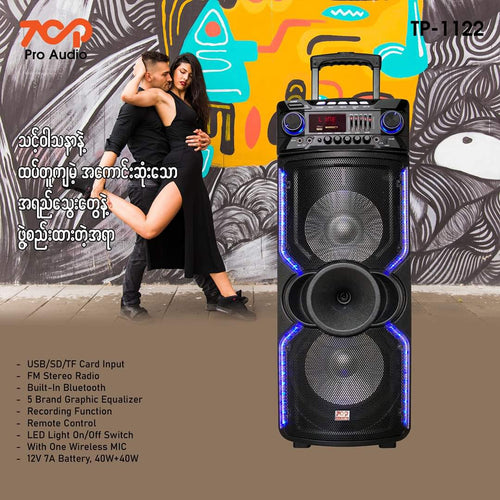 Top Battery Speaker TP1122 10''2