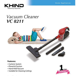 KHIND Vacuum Cleaner VC 8211 (0.4 Ltr)