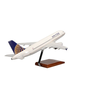 Aircraft Models - Airbus A320 United Airlines (Current Livery) Limited Edition Large Mahogany Model