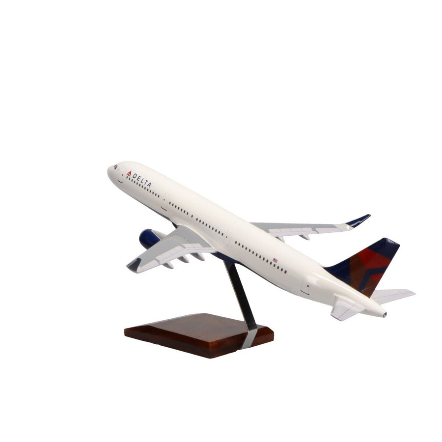 Aircraft Models - Airbus A321-200 Delta Air Lines Limited Edition Large Mahogany Model