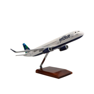 Aircraft Models - Airbus A321 Jetblue Airways Limited Edition Large Mahogany Model