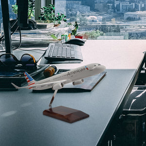 Airbus A321-200 American Airlines Limited Edition Large Mahogany Model