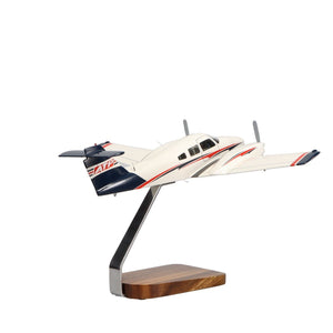 Aircraft Models - ATP Piper Seminole Clear Canopy Large Mahogany Model