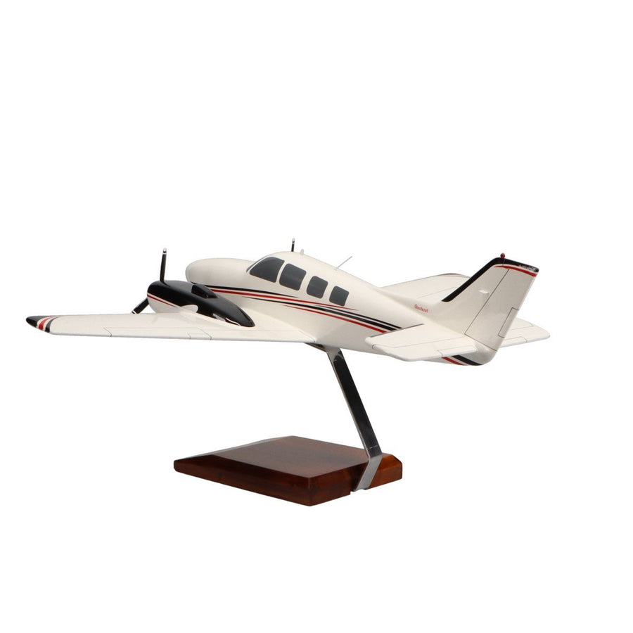 Aircraft Models - Beechcraft Baron G58 (Red/Black) Limited Edition Large Mahogany Model