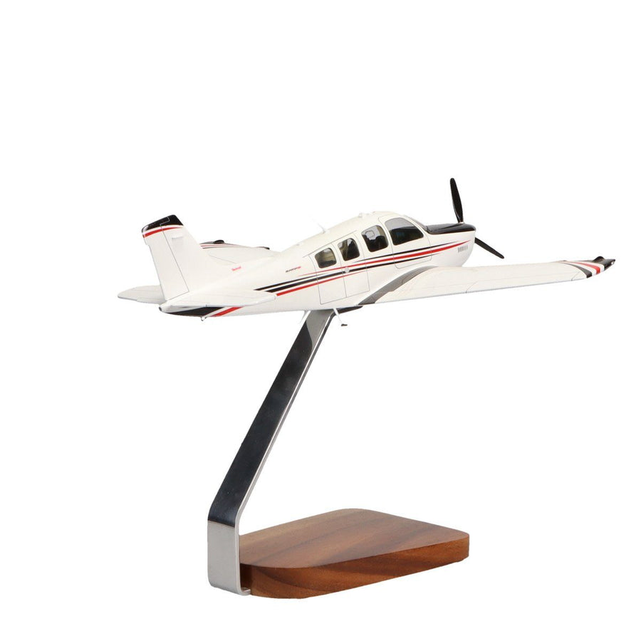 Aircraft Models - Beechcraft Bonanza G36 Clear Canopy Limited Edition Large Mahogany Model