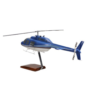 Aircraft Models - Bell 206 JetRanger Limited Edition Large Mahogany Model