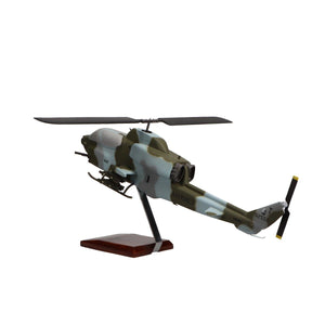 Aircraft Models - Bell AH-1W Super Cobra Limited Edition Large Mahogany Model