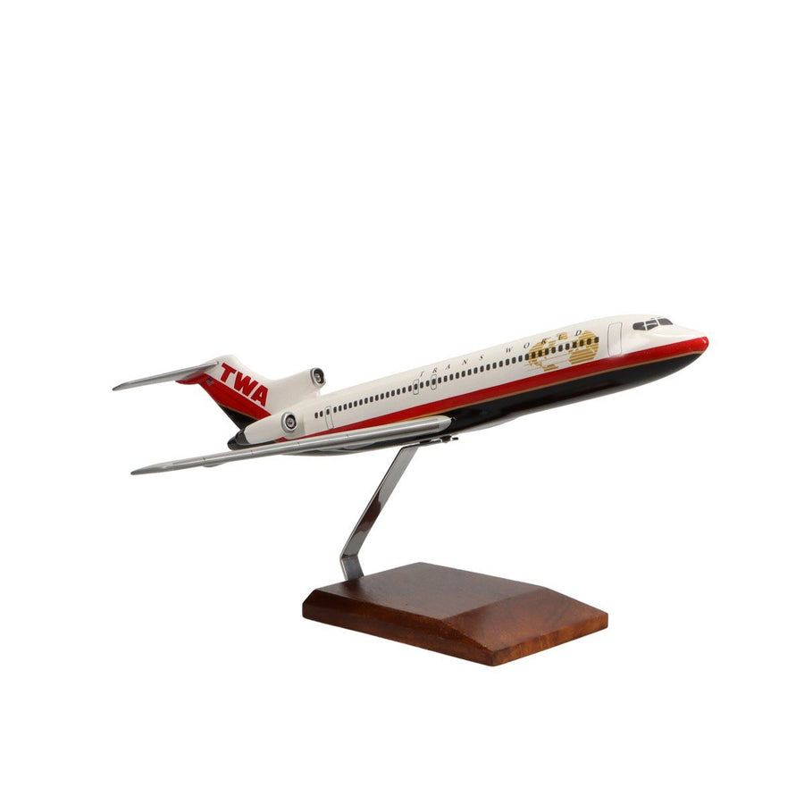 Aircraft Models - Boeing 727-200 TWA (Trans World Airlines) Limited Edition Large Mahogany Model