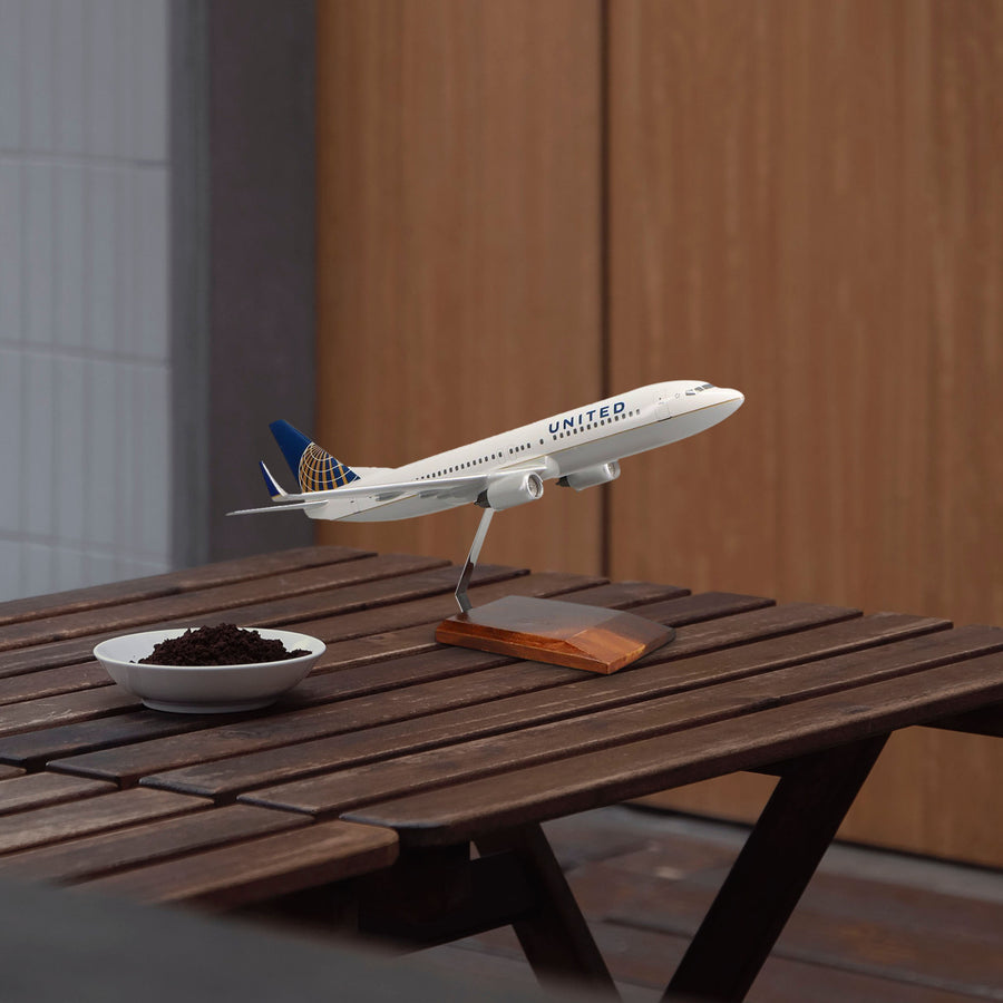 Boeing 737-800 United Airlines (Current Livery) Limited Edition Large Mahogany Model
