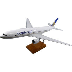 Aircraft Models - Boeing 777-200 Continental Airlines Limited Edition Large Mahogany Model