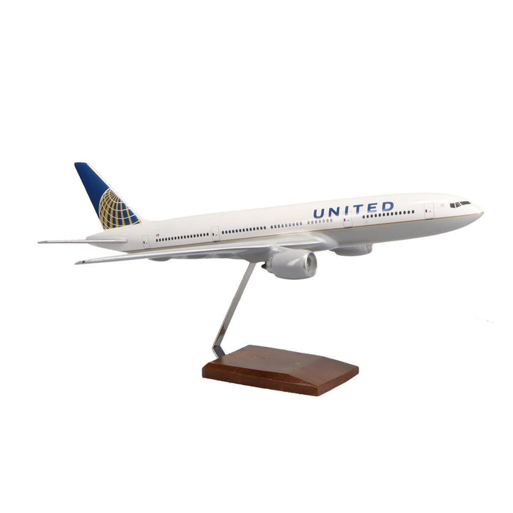 Aircraft Models - Boeing 777-200 United Airlines Limited Edition Large Mahogany Model