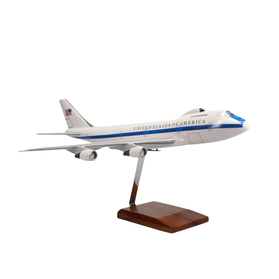 Aircraft Models - Boeing E-4 Advanced Airborne Command Post Limited Edition Large Mahogany Model