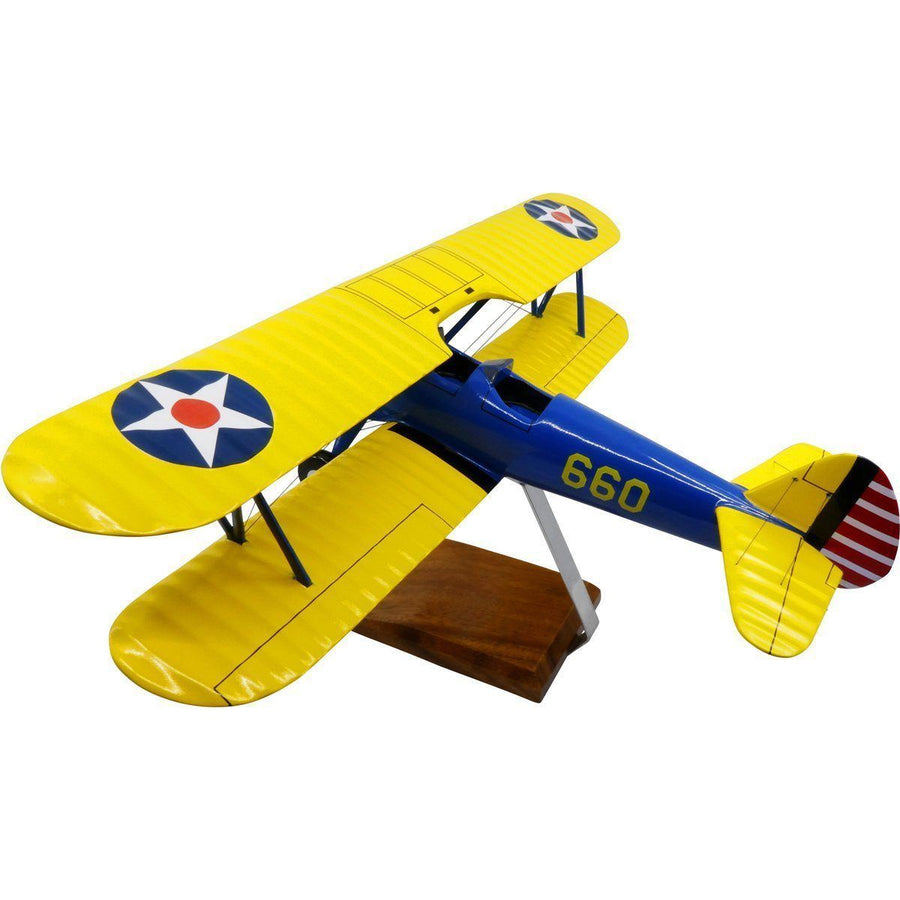 Aircraft Models - Boeing PT-17A Stearman Kaydet Limited Edition Large Mahogany Model