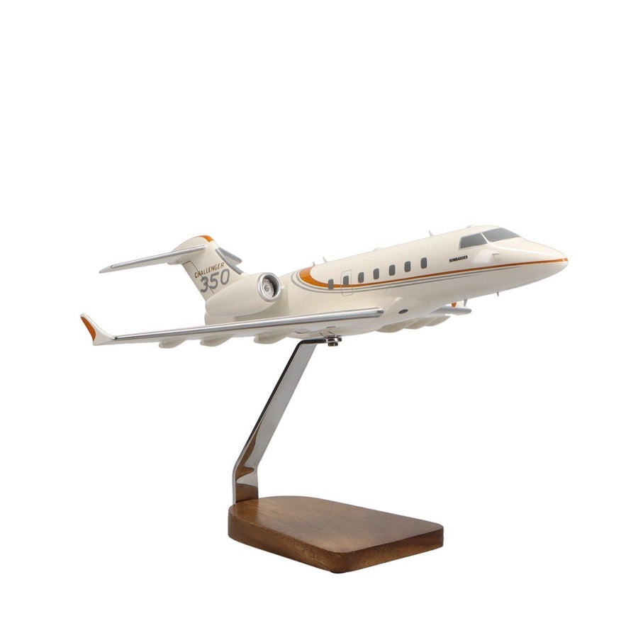 Aircraft Models - Bombardier Challenger 350 Limited Edition Large Mahogany Model