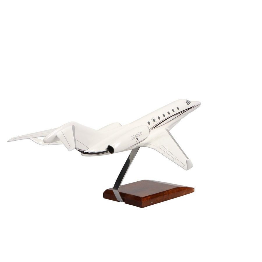 Aircraft Models - Cessna Citation X (Factory Paint) Limited Edition Large Mahogany Model