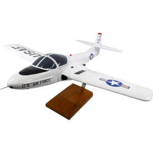 Aircraft Models - Cessna T-37A Tweetie Bird (White) Limited Edition Large Mahogany Model
