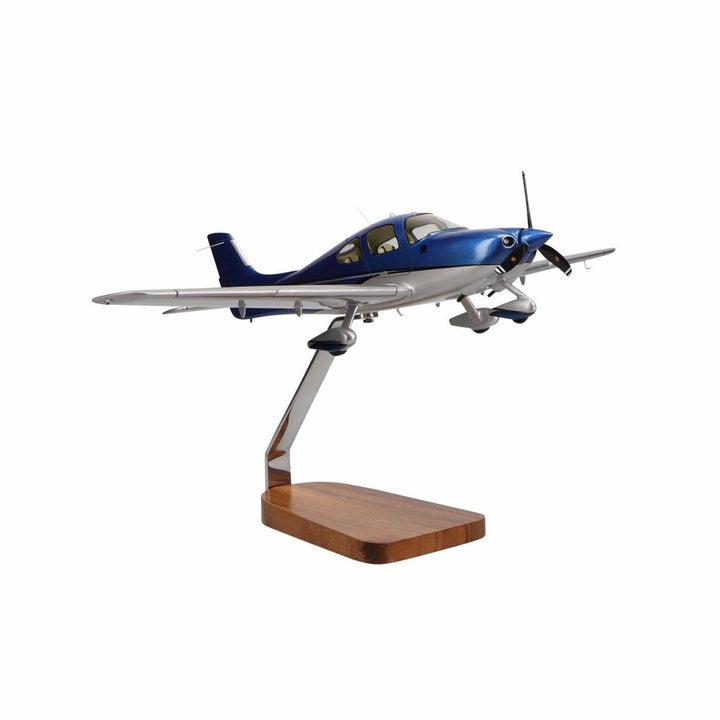 Aircraft Models - Cirrus SR22 Clear Canopy Limited Edition Large Mahogany Model