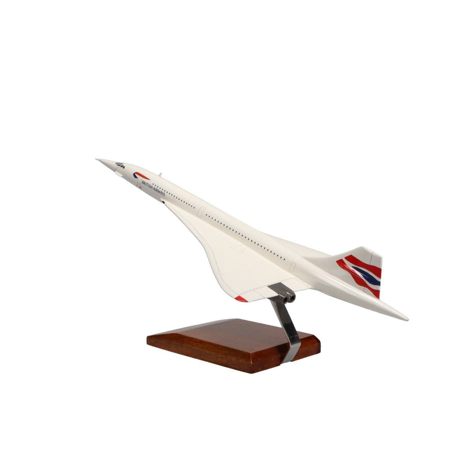 Aircraft Models - Concorde British Airways  Limited Edition Large Mahogany Model