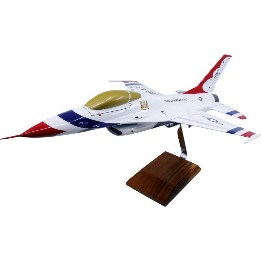 Aircraft Models - General Dynamics F-16A Thunderbirds Limited Edition Large Mahogany Model